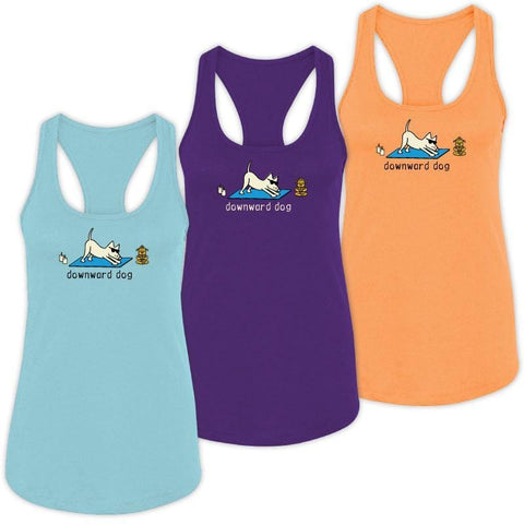 Downward Dog - Ladies Tank Top - Teddy the Dog T-Shirts and Gifts