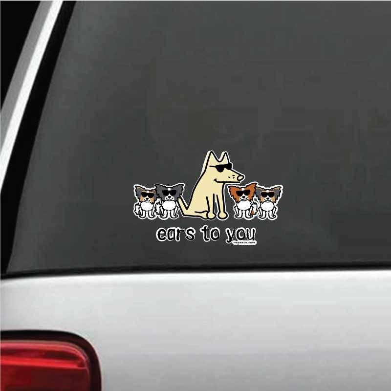 Ears To You Decal - Teddy the Dog T-Shirts and Gifts