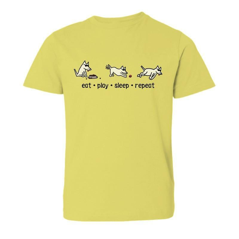 Eat, Play, Sleep, Repeat T-Shirt - Kids - Teddy the Dog T-Shirts and Gifts