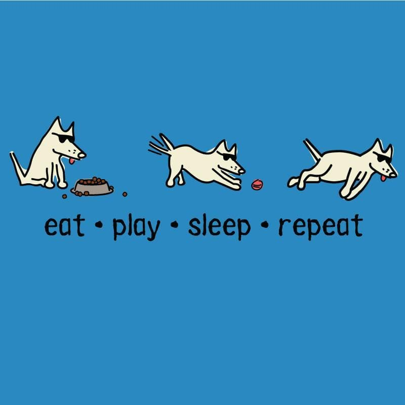 eat play sleep repeat night t-shirt
