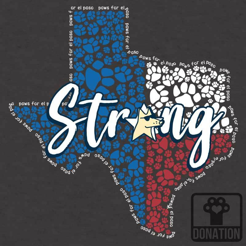 El Paso Strong - Ladies Curvy V-Neck Tee
