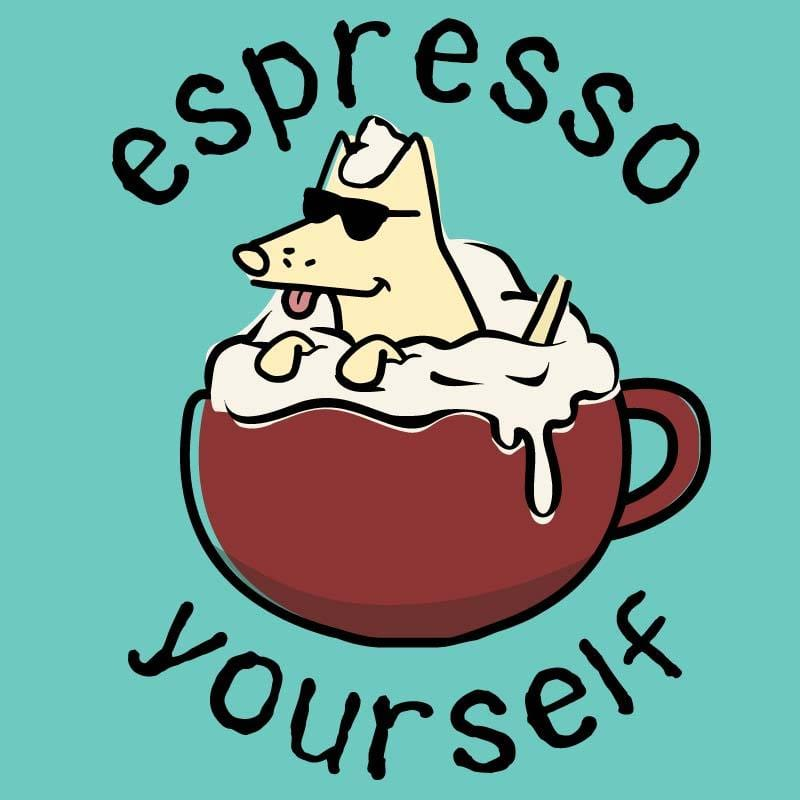 Espresso Yourself - Ladies T-Shirt V-Neck