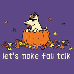 Let's Make Fall Talk - Ladies T-Shirt V-Neck