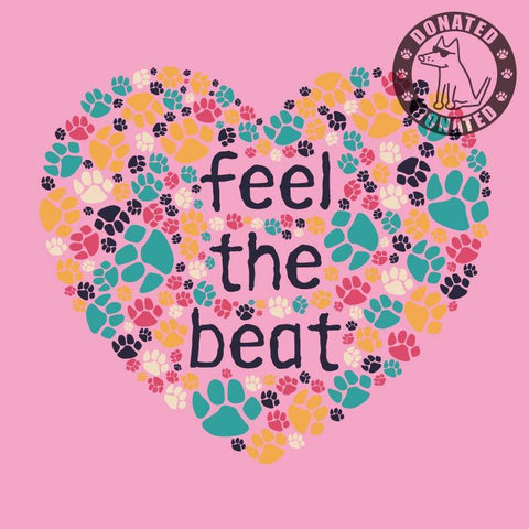 Feel The Beat - Ladies T-Shirt V-Neck