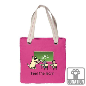 Feel The Learn - Canvas Tote