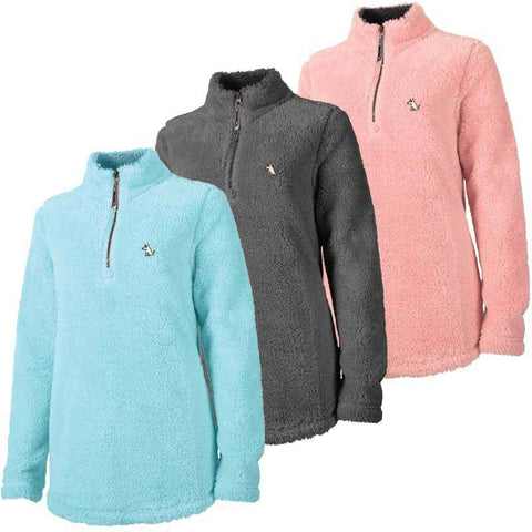 Ladies Quarter Zip Fuzzy Fleece