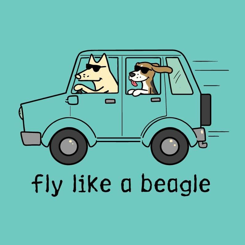 Fly Like a Beagle - Ladies Curvy V-Neck Tee
