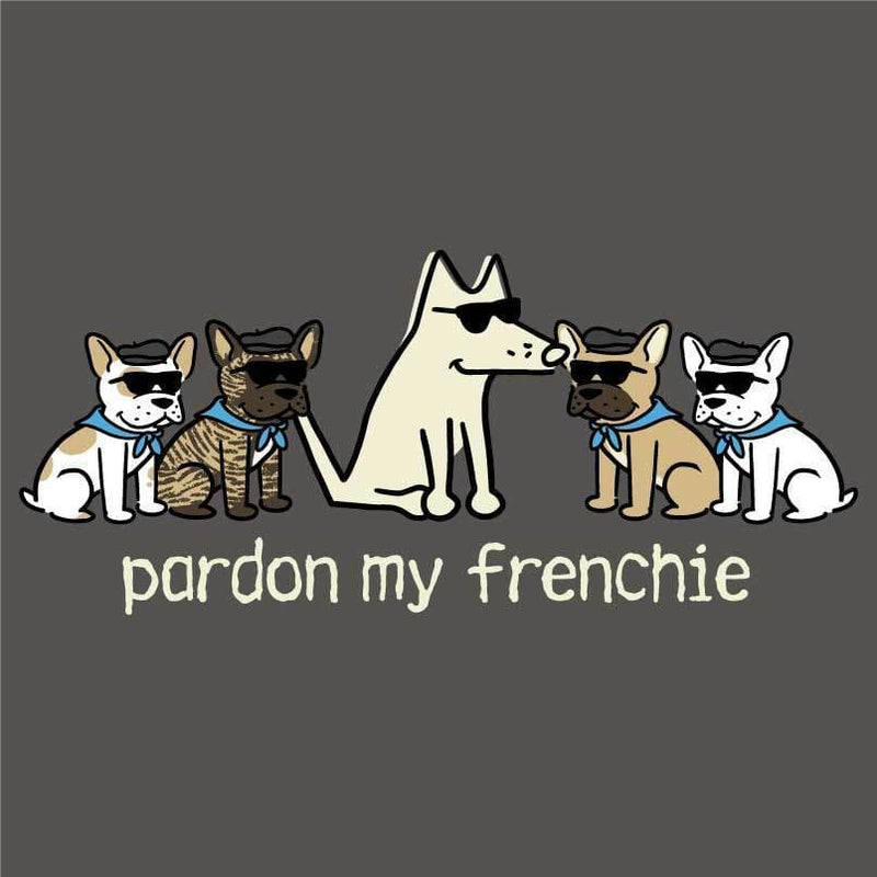 Pardon My Frenchie - Ladies T-Shirt V-Neck
