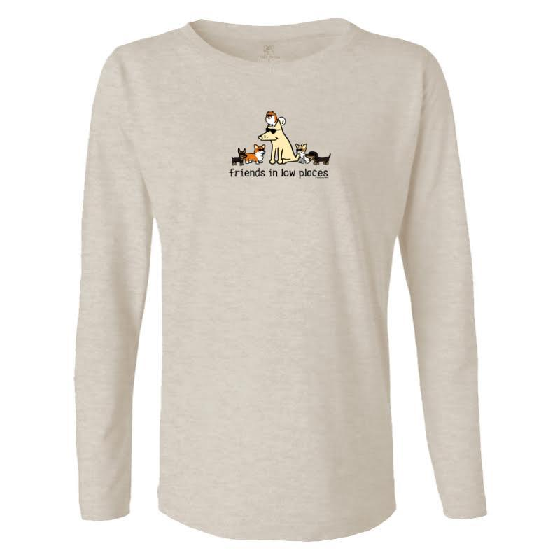 Friends In Low Places - Ladies Long-Sleeve T-Shirt