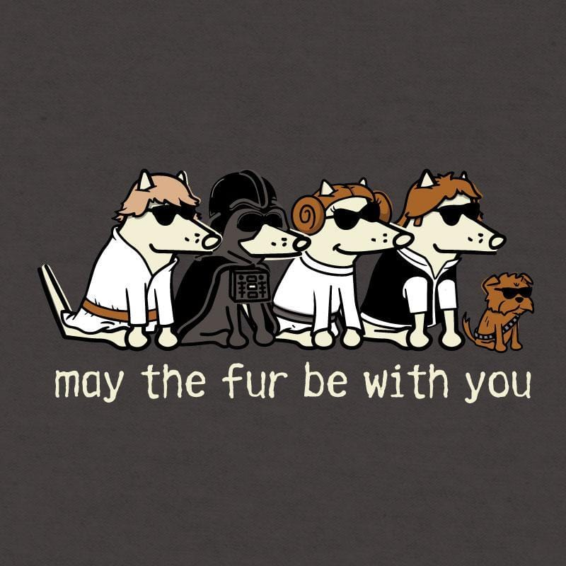 May The Fur Be With You - Ladies Curvy V-Neck Tee