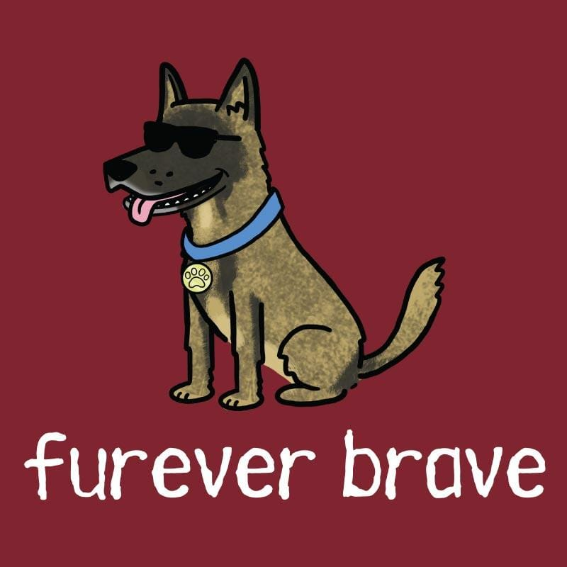 Furever Brave - Ladies T-Shirt V-Neck