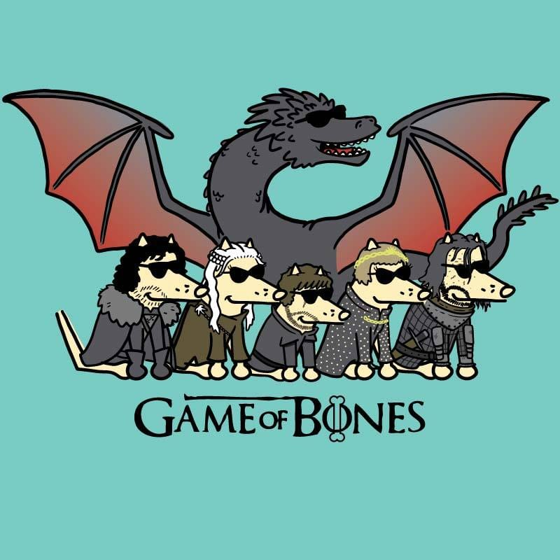 Game Of Bones Final Season - Ladies Curvy V-Neck Tee