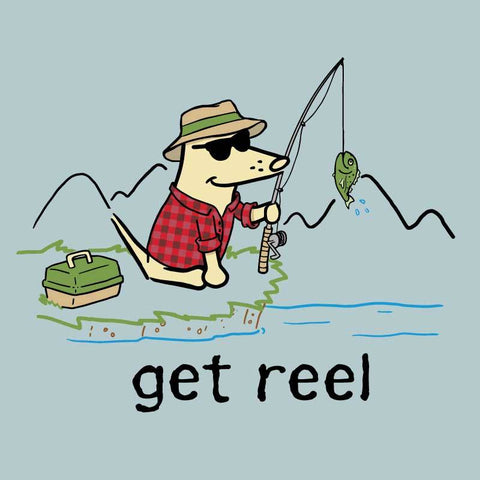 Get Reel -  Long-Sleeve Performance T-Shirt - Teddy the Dog T-Shirts and Gifts