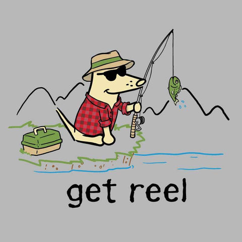 Get Reel - Ladies Long-Sleeve Performance T-Shirt - Teddy the Dog T-Shirts and Gifts