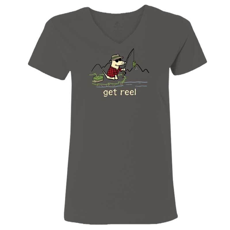 Get Reel - Ladies T-Shirt V-Neck