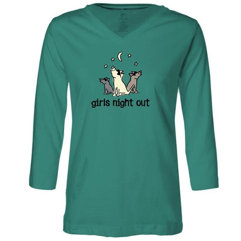 girls night out ladies 3 4 sleeve