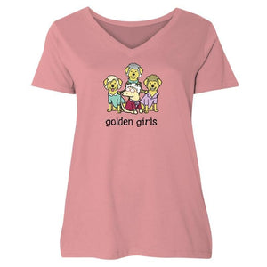Golden Girls - Ladies Curvy V-Neck Tee