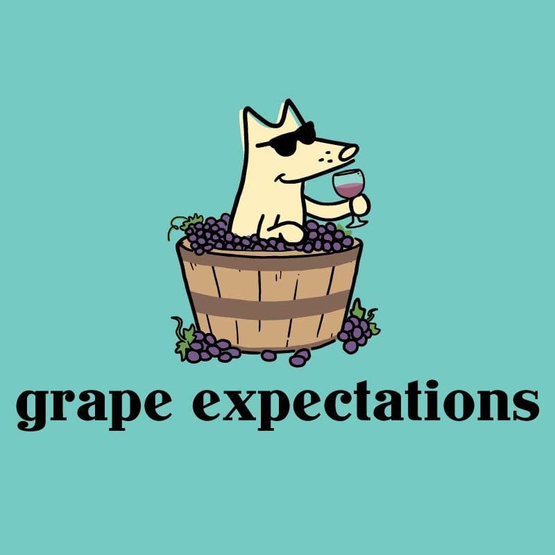 Grape Expectations - Ladies Curvy V-Neck Tee