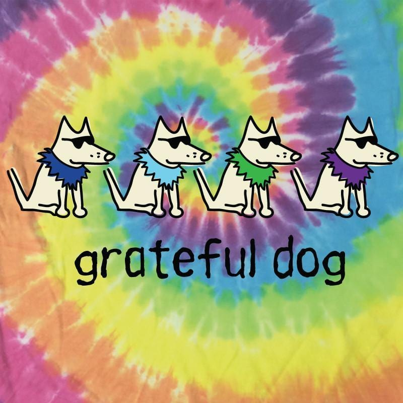 Grateful Dog - Ladies T-Shirt V-Neck - Teddy the Dog T-Shirts and Gifts