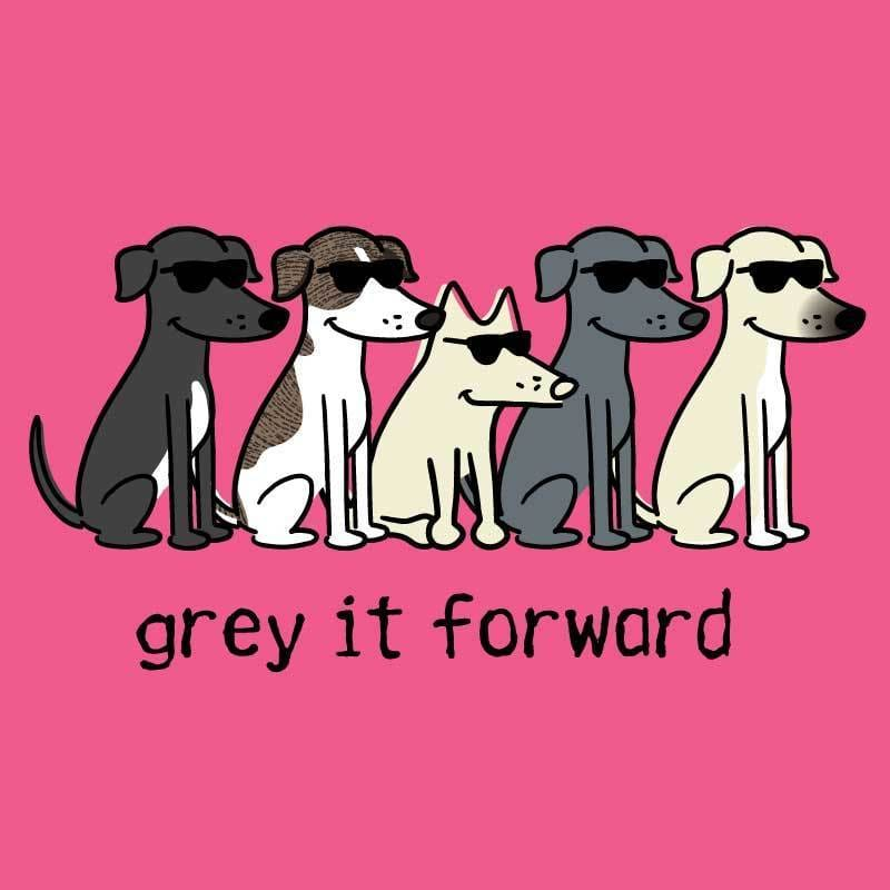 Grey It Forward - Ladies T-Shirt V-Neck - Teddy the Dog T-Shirts and Gifts