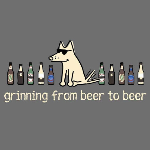 Grinning Beer to Beer - Classic Tee - Teddy the Dog T-Shirts and Gifts