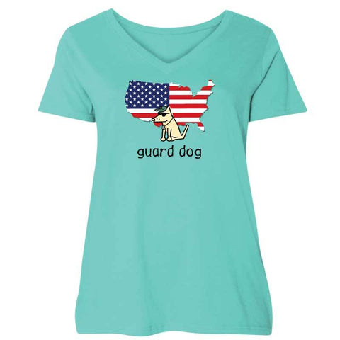 Guard Dog - Ladies Curvy V-Neck Tee