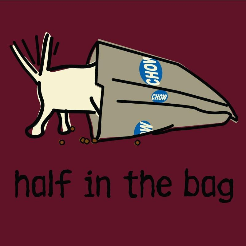 half in the bag ladies crew neck t-shirt