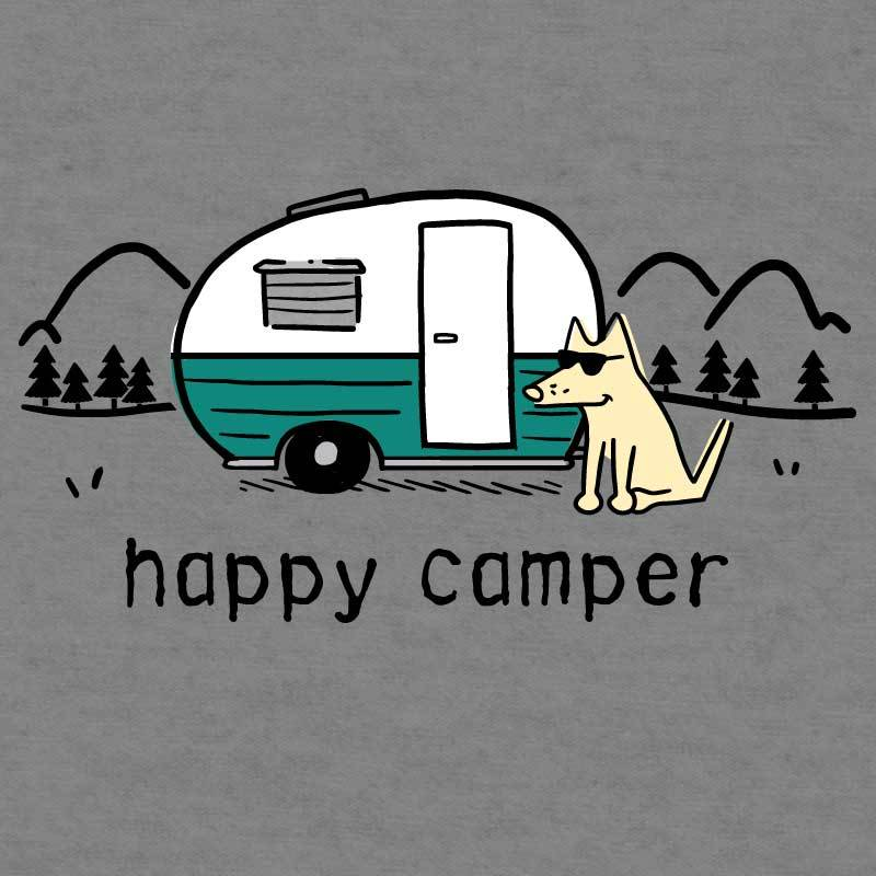 Happy Camper - Ladies Curvy V-Neck Tee