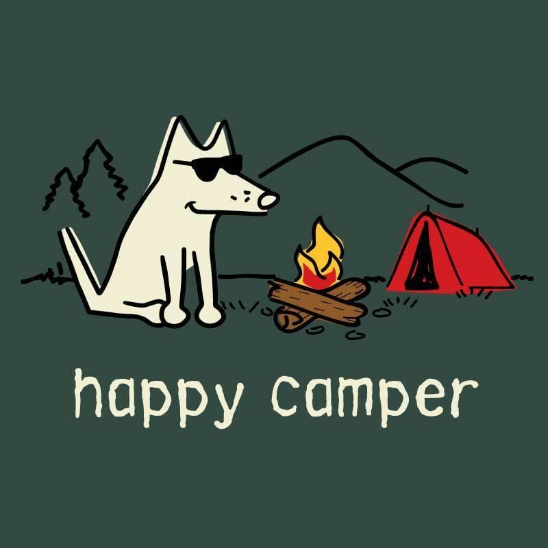 Happy Camper -  Toddler Short Sleeve T-Shirt - Teddy the Dog T-Shirts and Gifts