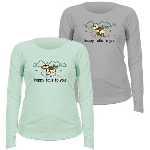 Happy Tails To You - Ladies Long-Sleeve Performance T-Shirt