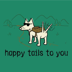 Happy Tails to You - Ladies T-Shirt V-Neck - Teddy the Dog T-Shirts and Gifts