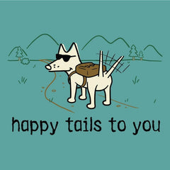 Happy Tails to You T-Shirt - Classic Garment Dyed - Teddy the Dog T-Shirts and Gifts