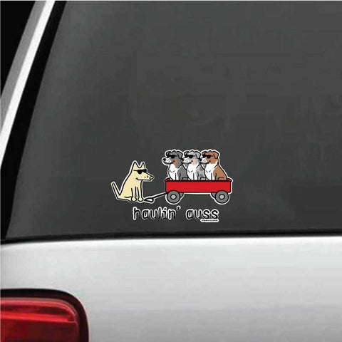 Haulin' Auss Decal - Teddy the Dog T-Shirts and Gifts