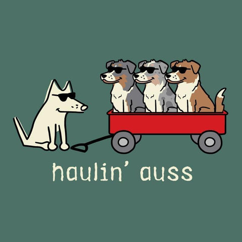 Haulin' Auss - Classic Tee - Teddy the Dog T-Shirts and Gifts
