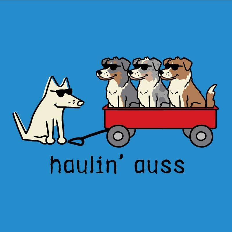 Haulin' Auss - Canvas Tote - Teddy the Dog T-Shirts and Gifts
