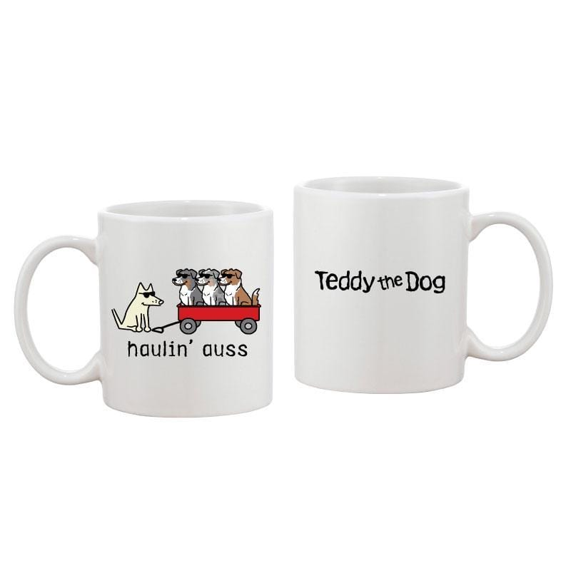 Haulin' Auss - Coffee Mug - Teddy the Dog T-Shirts and Gifts