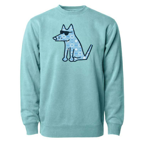 Designer Teddy - Blue Christmas - Crew Neck Sweatshirt