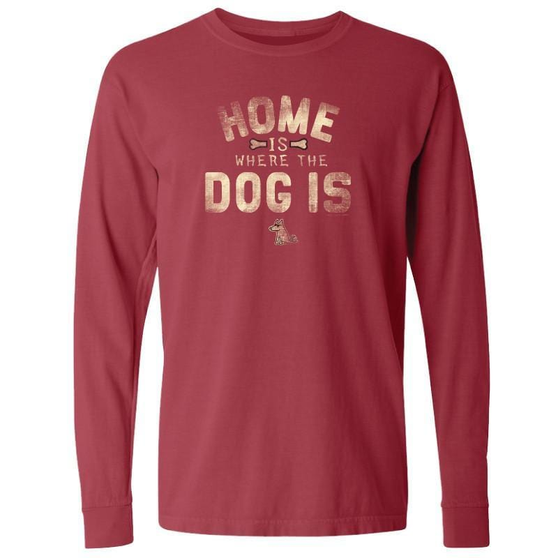Home is Where the Dog T-Shirt - Long-Sleeve T-Shirt Classic - Teddy the Dog T-Shirts and Gifts