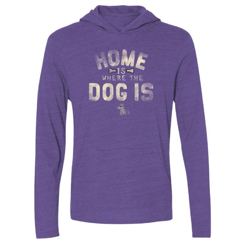 Home Is Where The Dog Is - Long-Sleeve Hoodie T-Shirt - Teddy the Dog T-Shirts and Gifts