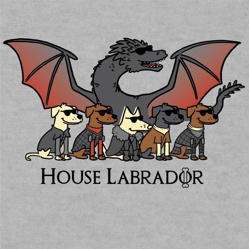 House Labrador - Ladies T-Shirt V-Neck