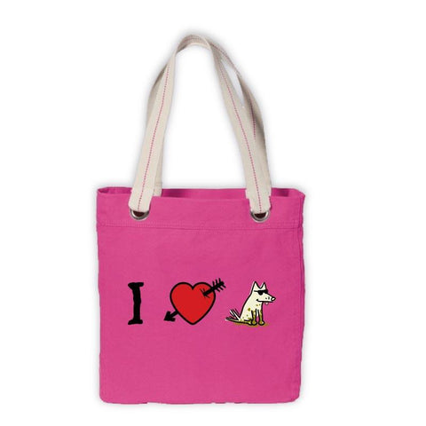 Teddy's I Love Dogs Canvas Tote - Teddy the Dog T-Shirts and Gifts