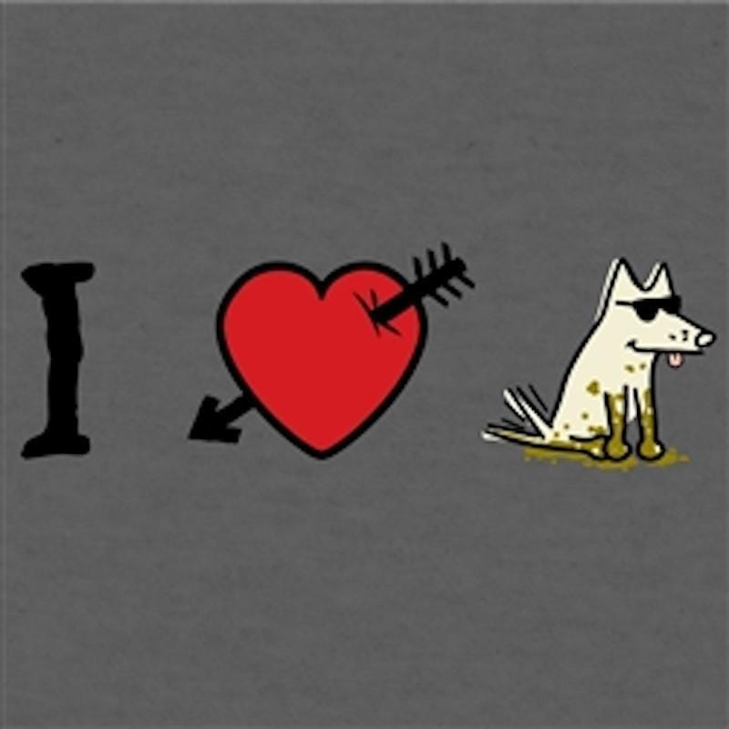 I Love Dogs - T-Shirt Lightweight Blend - Teddy the Dog T-Shirts and Gifts