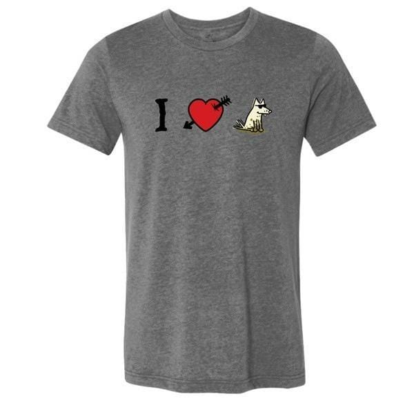 i love dogs lightweight t-shirt