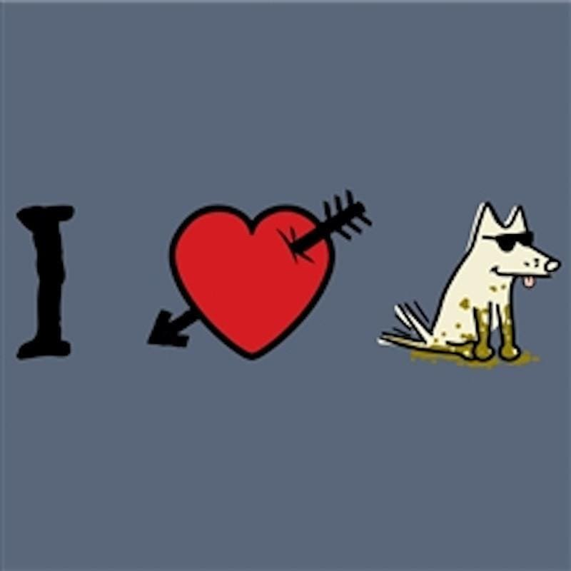 I Love Dogs T-Shirt - Classic Garment Dyed - Teddy the Dog T-Shirts and Gifts