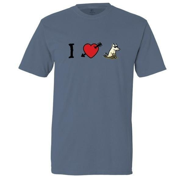 i love dogs garment dyed classic t-shirt