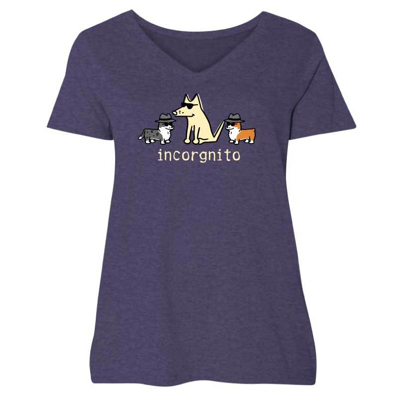 Incorgnito - Ladies Curvy V-Neck Tee