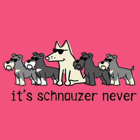 It's Schnauzer Never - Ladies Curvy V-Neck Tee