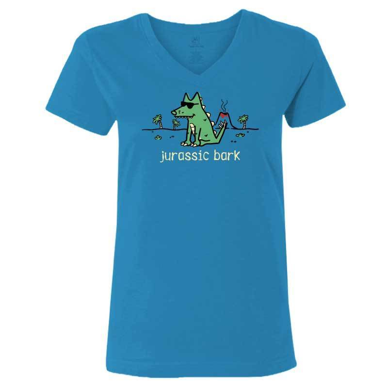 Jurassic Bark - Ladies T-Shirt V-Neck