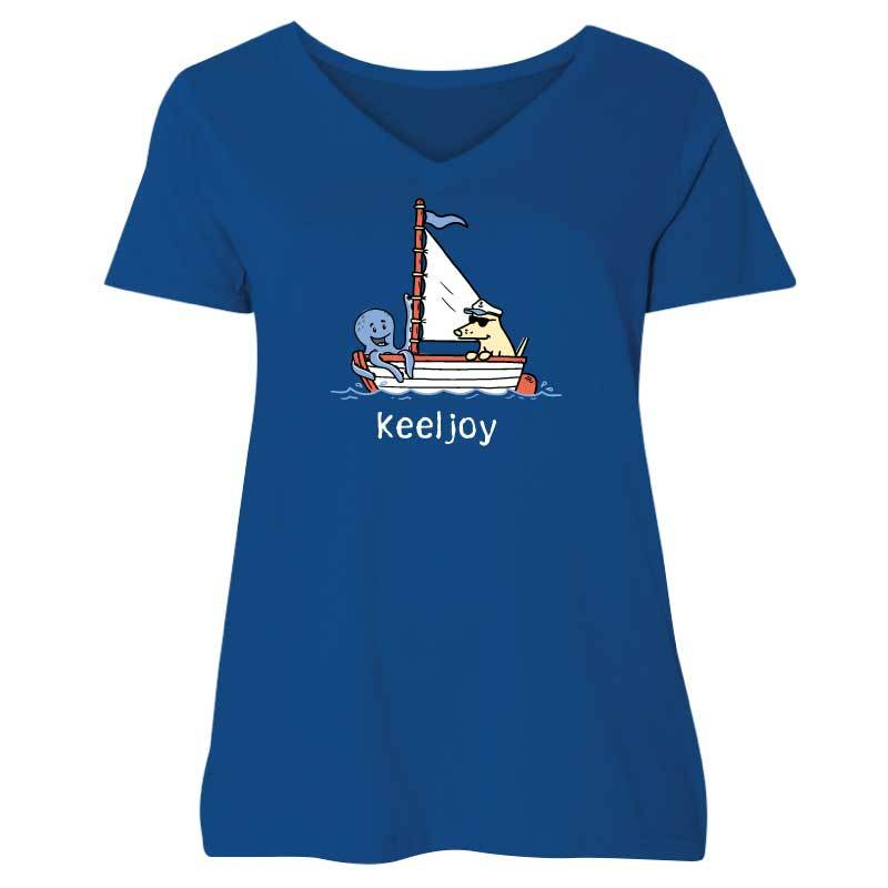 Keeljoy - Ladies Curvy V-Neck Tee