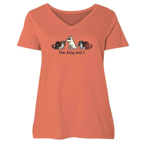 The King and I- Ladies Curvy V-Neck Tee